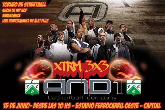 Torneo de Streetball AND1 XTRM 3x3 en Ferro