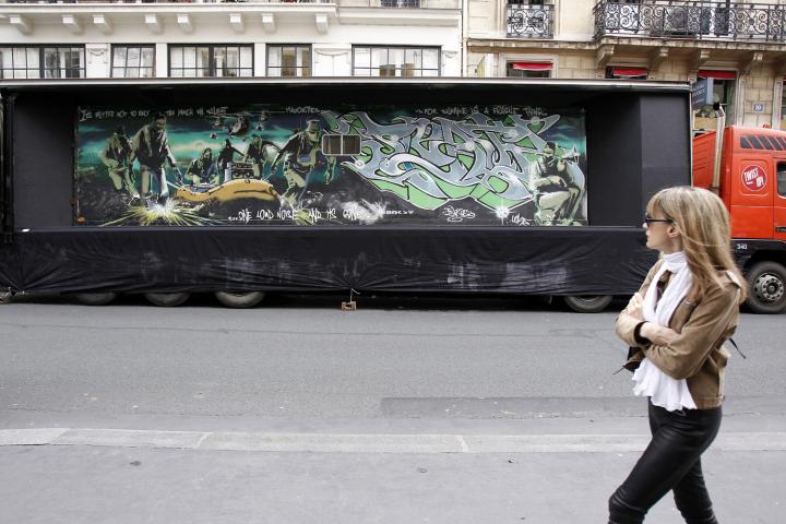 Obra puesta en exhibición en Paris, Francia